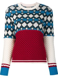 Sea Woven Multi Print Jumper Red