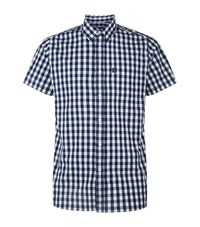 Barbour Falstone Gingham Shirt Male Navy