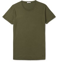 Tomas Maier Cotton Jersey T Shirt Green