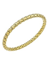Chimento 18K Yellow Gold Stretch Spring Collection Disc Rope Bracelet
