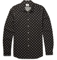 Paul Smith Slim Fit Printed Voile Shirt Black