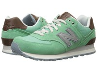 New Balance Wl574 Mint Women's Lace Up Casual Shoes Green