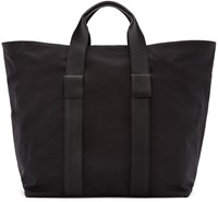 Dsquared Black Leather And Nylon Tote