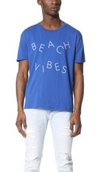 Quality Peoples Beach Vibes Tee Mazzy Blue