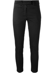 Dondup Cropped Skinny Trousers Black