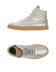 National Standard Footwear High Tops And Trainers Women Silver