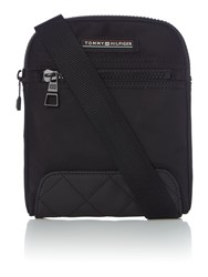 Tommy Hilfiger Nylon Mini Flat Crossover Bag Black
