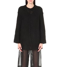 Maison Martin Margiela Deconstructed Chunky Knit Jumper Black