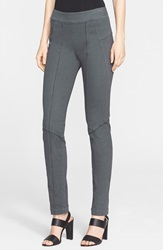 Donna Karan Seamed Stretch Twill Slim Fit Pants Steel