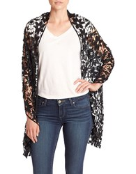 Collection 18 Sequin Lace Scarf Black