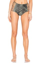 Rvca Palm Cheeky Bikini Bottom Olive