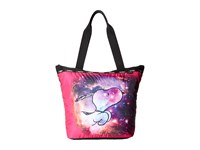 Le Sport Sac Hailey Tote Galaxy Snoopy Tote Handbags Red