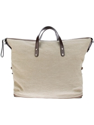 Dolce And Gabbana Canvas Tote Grey
