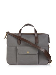 Mismo M S Briefcase Leather And Canvas Tote