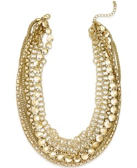 Style And Co. Multi Chain Short Necklace Gold
