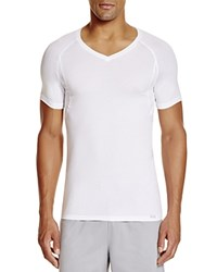 Hanro Modal Stretch V Neck Tee White