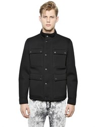 Neil Barrett Lightweight Neoprene Military Jacket