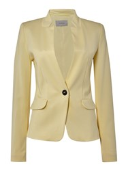 Marella Guida Fitted Long Sleeve Jacket With Pocket Yellow
