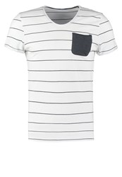 Tom Tailor Fitted Print Tshirt White