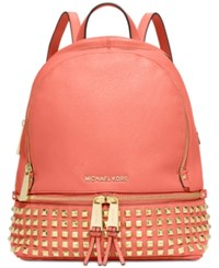Michael Kors Rhea Small Studded Backpack Pink Grapefruit