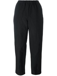 Comme Des Garcons Elastic Waistband Straight Trousers Black
