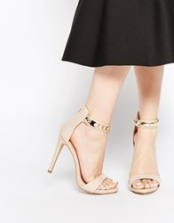 Ax Paris Leona Barely There Heeled Sandals Pink