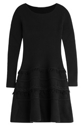 Agnona Knit Dress With Wool And Cashmere Black