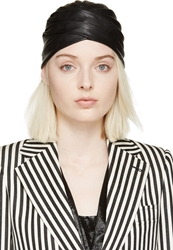 Saint Laurent Black Leather Turban