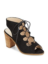 Catherine Malandrino Lace Up Faux Suede Sandals Black