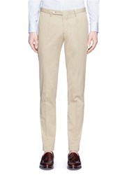 Boglioli Slim Fit Stretch Twill Chinos Neutral