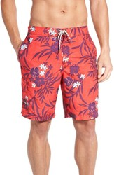Tommy Bahama Men's 'Baja Rosado Blooms' Swim Trunks Red Cherry