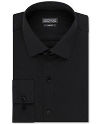 Kenneth Cole Reaction Slim Fit Dobby Solid Dress Shirt Charcoal