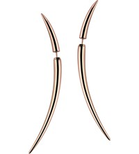 Shaun Leane Rose Gold Vermeil Quill Earrings Size 2