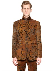 Etro Printed Cotton Corduroy Military Jacket