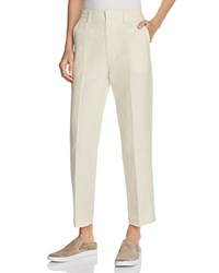 Vince Straight Ankle Pants Bleached