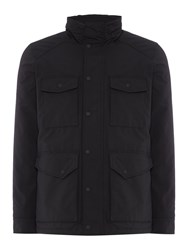 Replay Men's Micro Oxford High Neck Jacket Black