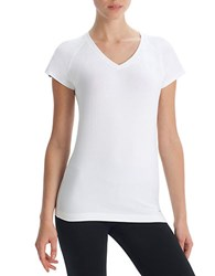 Danskin Plus V Neck T Shirt White