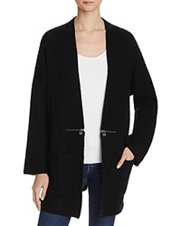 Sutton Studio Chunky Ribbed Cardigan Compare At 90 Black