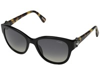 Lanvin Sln596s Black Havana Smoke Gradient Plastic Frame Fashion Sunglasses