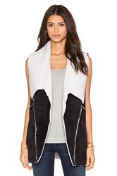 1. State Faux Shearling Vest Black