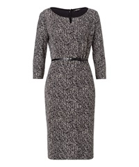 Olsen Printed Dress Black