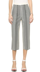 O'2nd Sidibe Jacquard Cropped Pants Mix