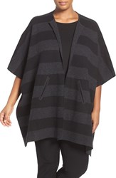 Eileen Fisher Plus Size Women's Felted Merino Knit Poncho