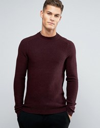 Selected Homme Crew Neck Jumper Fudge Red