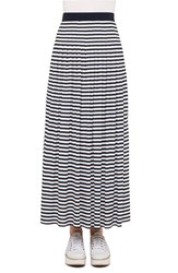 Akris Punto Women's Stripe Jersey Maxi Skirt