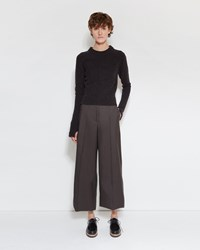 Christophe Lemaire Wide Leg Trousers Seal Brown