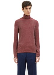 Gucci Striped Roll Neck Sweater Burgundy