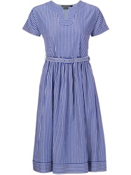 Antipodium Striped Flared Dress Blue