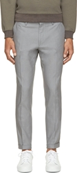 Christopher Kane Grey Cropped Trousers