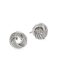 Saks Fifth Avenue Knot Stud Earrings Silver
